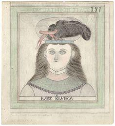 """""""Miss Elvira"""" de James Edward Deeds vers 1950), qui vécu soixante ans dans un asile, interné de force après une bagarre avec son frère."""