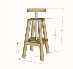 Ana White   Industrial Adjustable Height Bolt Bar Stool - DIY Projects