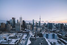 Blue Hour - The heart of Toronto, on a cold, snowy day.