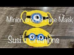 Minion and Frog Mask Crochet Patterns Video DIY Magazine Crochet Pattern Free, Minion Crochet Patterns, Minion Pattern, Pokemon Crochet Pattern, Amigurumi Giraffe, Mini Amigurumi, Amigurumi Animals, Crochet Mask, Crochet Faces