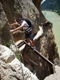 Hike the Caminito Del Rey in Spain: Some say its the most dangerous hike in the world, El Caminito Del Rey (also known as El Camino Del Rey) in Spain definetely sounds like the most thrilling hike you will ever do!