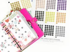 five sixteenths blog: Free Circle Date Stickers for your Planner
