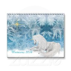 Beautiful Unicorns on Ice 2014 Calendar  60% Off  Custom Products    USE CODE:  AFTERHOLIDAY