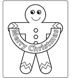 Gingerbread man sends a big Christmas greeting