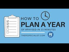 How to Plan a Whole Year of Physical Education in 15 minutes - YouTube