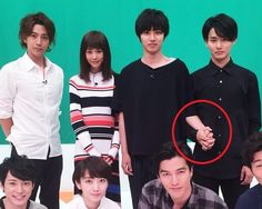 "look at Kento & Shohei's hands lol TV info: Nepu League (quiz show) SP, team upcoming drama ""ON"" VS ""Sukina hito ga iru koto"", Jul/11/2016"