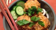 Recipe: Lemongrass Turkey Meatballs with Red Curry Coconut Sauce