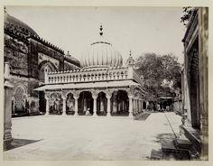 Hazrat Nizamuddin Dargah - Delhi 1860's  Nizamuddin Dargah is the dargah (mausoleum) of famous Sufi saint Nizamuddin Auliya. Situated in the Nizamuddin West area of Delhi.