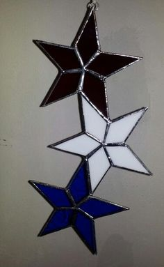 red, white & blue stars