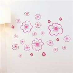 cherry blossoms on your wall ? Lotta Jansdotter wall decals .