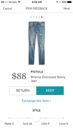 Perfect pair of distressed jeans. Stitch fix fall 2016.