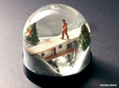 Horizontal Stripes: Snow Globes