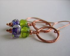love copper with the green and purple
