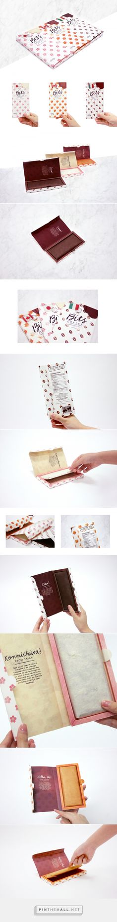 Bits Chocolate Bars (Student Project) - Packaging of the World - Creative Package Design Gallery - http://www.packagingoftheworld.com/2016/12/bits-chocolate-bars-student-project.html