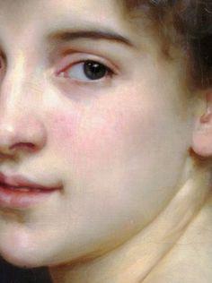 Portrait of Gabrielle Cot Detail - William-Adolphe Bouguereau.