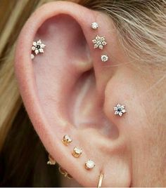 @Who What Wear - Flower-shaped studs are a feminine alternative to the typical balls.