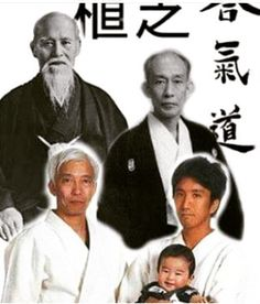 Five generations of the seed of Aikido.