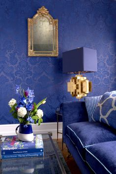 Add a touch of individuality and creative flair to your interior with this Petrouchka Wallpaper by designer Cole & Son, part of the Mariinsky Damask collection. Cole And Son Wallpaper, Go Wallpaper, Damask Wallpaper, Wallpaper Borders, Wallpaper Patterns, Wallpaper Online, Cole Son, Damask Decor, Monochromatic Room