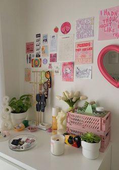 Room Design Bedroom, Room Ideas Bedroom, Bedroom Decor, Bedroom Inspo, Cute Room Ideas, Cute Room Decor, Pastel Room, Pastel Decor, Indie Room