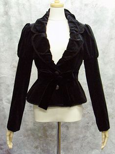 Gathered Collar Velveteen Jacket MMM