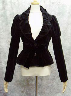 Beautiful velvet jacket by Moi Meme Moitie