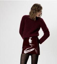 maje GRATIS Patent Leather Mini Skirt at Maje US