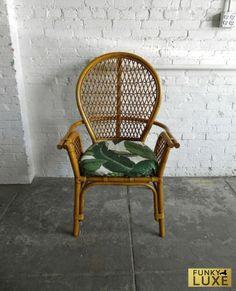 Genial Bamboo Chair W/ Beverly Hills Hotel Martinique Banana Leaf Cushion