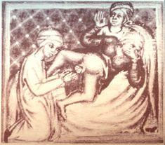 Chururgia, by Gerard of Cremona, twelfth century, Codex Series Nova 2641, fol 41 r. Osterreichische Nationalbibliothek, Vienna.