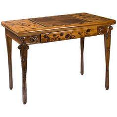Louis Majorelle French Art Nouveau Games Table 8