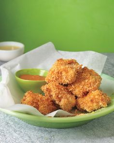 Baked Chicken Nuggets--leave it to Martha....perfection! I added 1 tsp. of ranch dressing mix to the breading.
