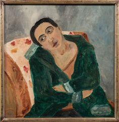 'Woman in armchair', 1904, by the Russian artist Natalia Goncharova (1881-1962), BRAFA 2016 exhibit of Chiale Fine Art.