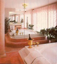 Creating a Tropical Bathroom on a Budget 80s Interior Design, 1980s Interior, Grand Art, Deco Retro, Vintage Room, Vintage 70s, Pink Room, Aesthetic Room Decor, Dream Home Design
