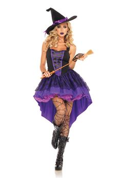 Broomstick Babe Adult Witch Costume $49.95 #halloween #costumes