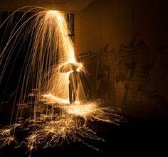 Lightpainting by Simon Berger !