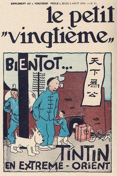 Bientôt...Tintin en Extrême-Orient - annonce du Lotus Bleu