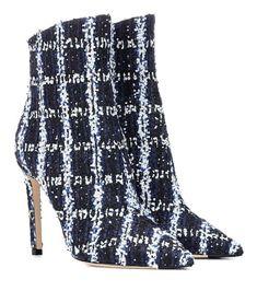 d23fabba2d30 JIMMY CHOO x MYTHERESA  Helaine 100 tweed ankle boots Jimmy Choo Shoes