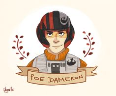 Poe Dameron by @shorelle | Star Wars The Force Awakens