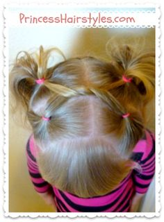 shoelace knot pigtails, little girls hairstyle tutorial