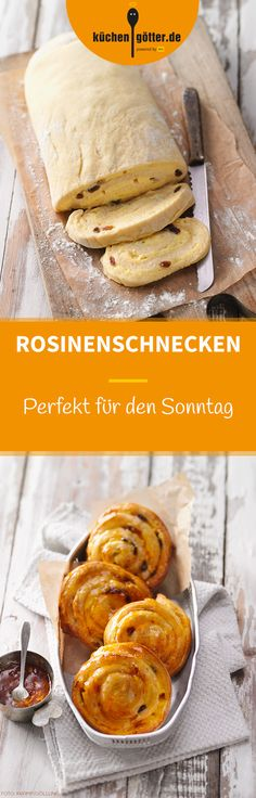 Rosinenschnecken ROSIN SCISSORS – When our small particles bake in the oven golden brown on a Sunday morning, each late riser is lured out of bed. No Bake Desserts, Dessert Recipes, Baking Desserts, Baking Recipes, Cookie Recipes, Bread Recipes, Lunch Boxe, Sweet Bakery, Four