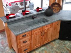 """""""multi shades of grey w/crushed glass veining thru out, square front edge"""