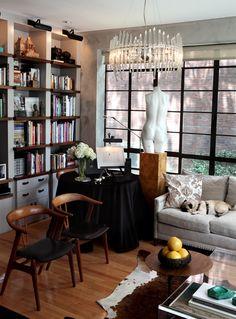 NYC Interiors - Bookshelves - by Juan Carretero