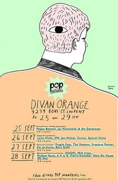 POP MONTREAL Divan Orange