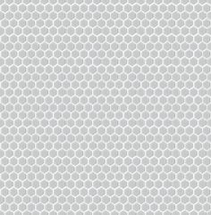 Shapes Hexagon Matt White 23x26mm Mosaic Tile