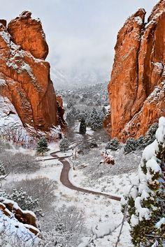 Garden of the Gods, National Natural Landmark, Colorado Springs, Colorado