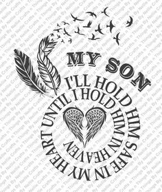 Spiral In Memory My Son SVG by CraftsnThingsByNelly on Etsy Funeral, Remembrance Tattoos, Tattoo For Son, Silhouette Cameo Projects, Vinyl Designs, Shirt Designs, Tattoo Designs, Cricut Creations, In Loving Memory