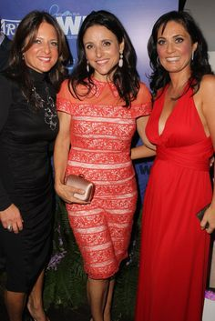 Julia Louis-Dreyfus, center, at the Variety and Women In Film Pre-Emmy Party before her big win