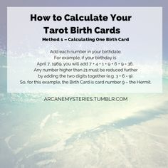 tarot birth cards 1