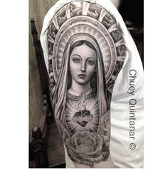 19 ideas for tattoo sleeve religious angels virgin mary Tattoo Son, Jesus Tattoo, Calf Tattoo, Chicano Tattoos, Body Art Tattoos, Tattos, Sleeve Tattoos For Women, Tattoo Sleeve Designs, Tattoo Designs Men