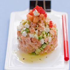 Découvrez la recette Tartare saumon avocat sur cuisineactuelle.fr.