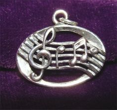 STERLING Music Scale Charm PENDANT by CharmAndChain on Etsy, $13.60